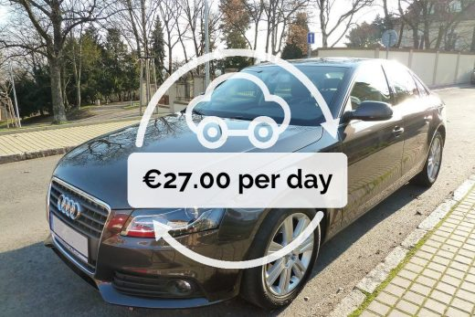 Rent a Audi A4 sedan in #Prague for €27.00 per day .  Book now  localcarhires.co...