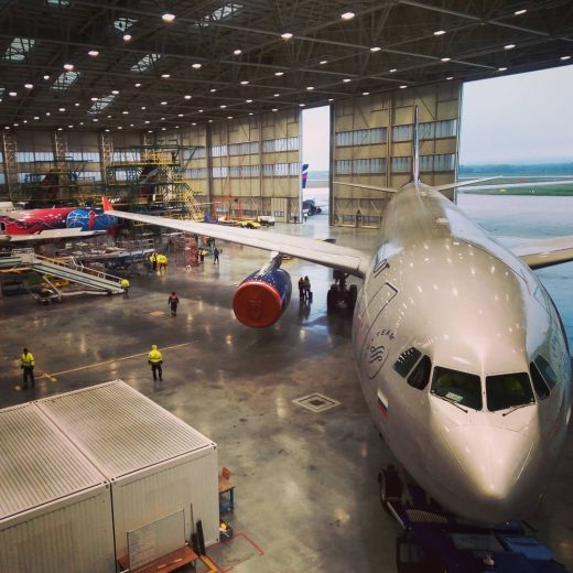 First time with us A 330  #airbus #airbus330 #aeroflot #inthehangar #airplanepho...